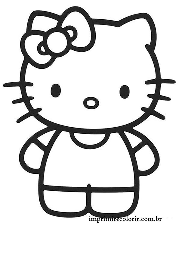 desenhos de pintar imprimir e colorir hello kitty amiga
