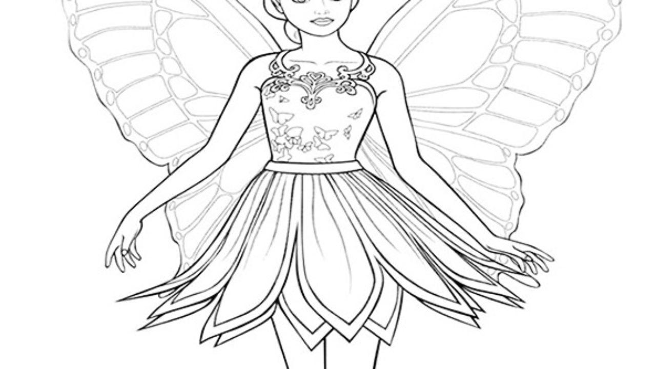 Barbie Borboleta Desenhos Para Imprimir E Colorir