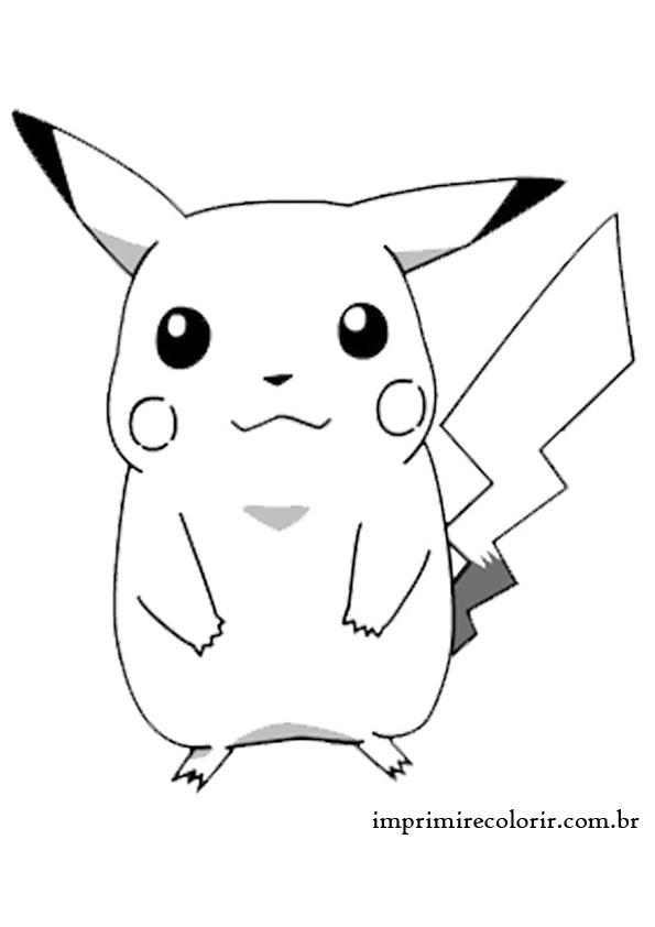 Amado Desenhos de Pintar Imprimir e Colorir | Pikachu AL17