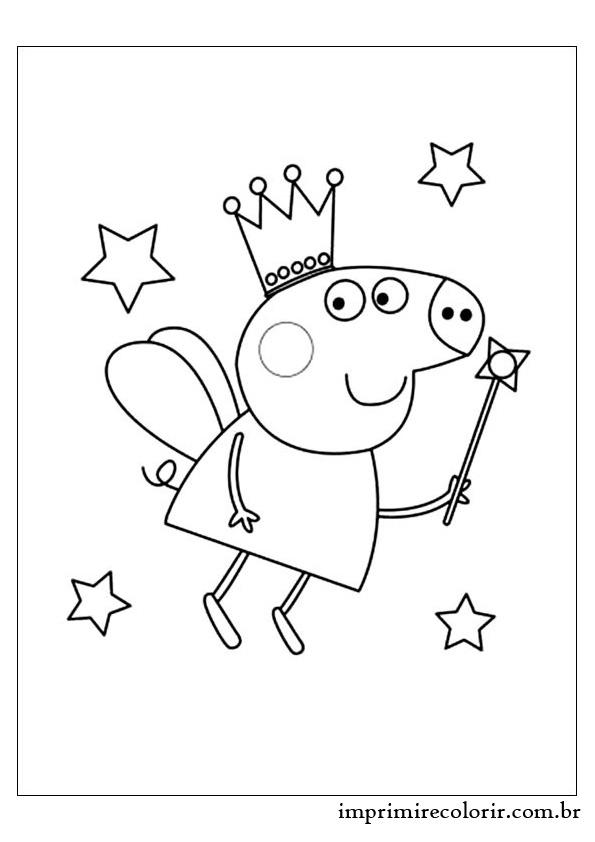 Fada Pig Desenhos Para Imprimir E Colorir