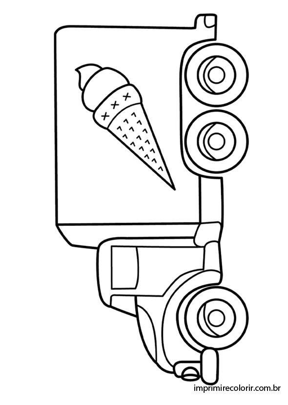 Caminhão De Sorvete Desenhos Para Imprimir E Colorir