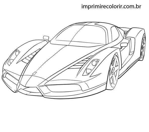 Desenhos De Pintar Imprimir E Colorir Super Ferrari