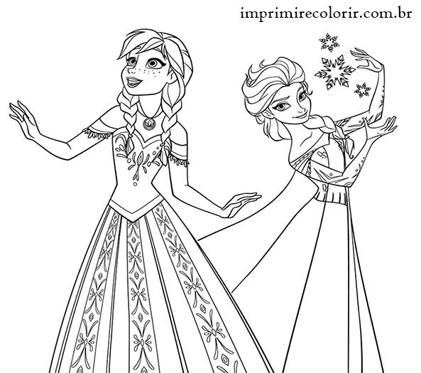 Elsa E Anna Desenhos Para Imprimir E Colorir