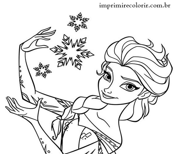 Frozen Elsa Desenhos Para Imprimir E Colorir