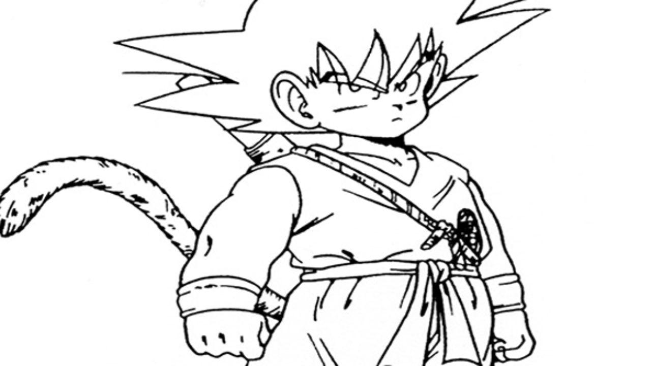 Goku Pequeno Desenhos Para Imprimir E Colorir