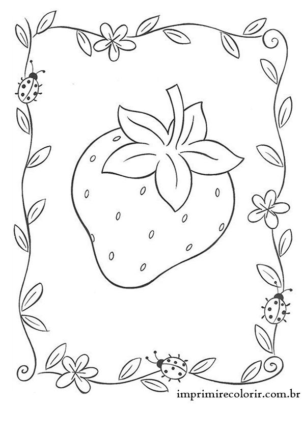 Morango Desenhos Para Imprimir E Colorir