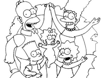 Desenhos Dos Simpsons Desenhos Para Imprimir E Colorir