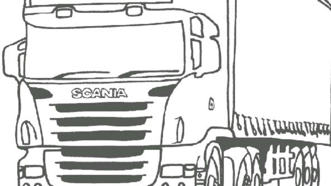 Caminhao Scania Desenhos Para Imprimir E Colorir