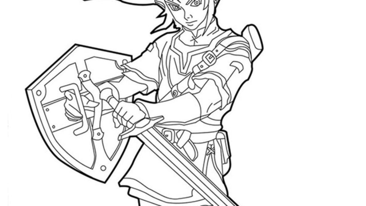 Link De Zelda Desenhos Para Imprimir E Colorir