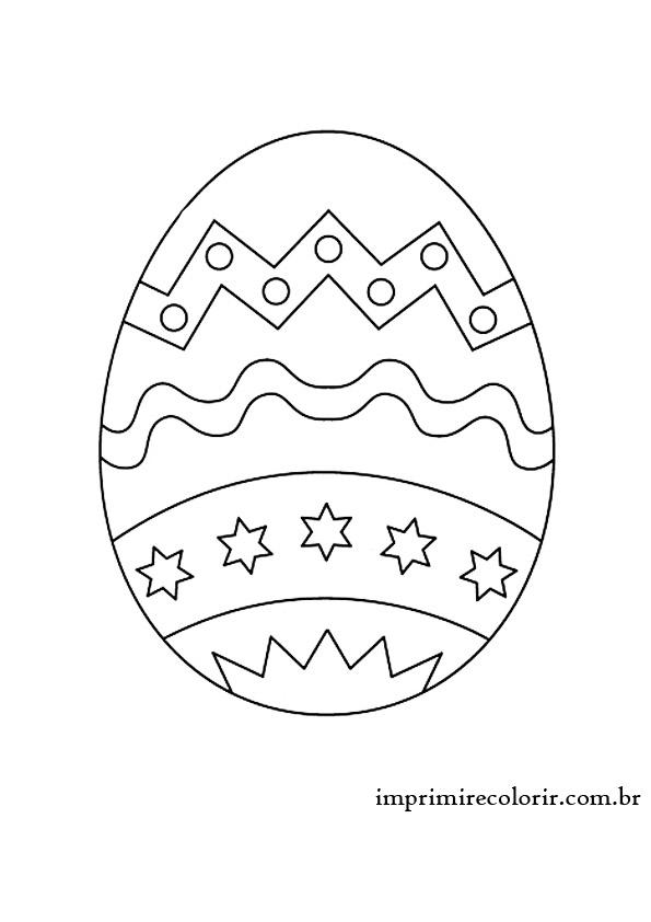 Ovo De Pascoa Desenhos Para Imprimir E Colorir