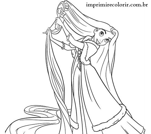Rapunzel Desenhos Para Imprimir E Colorir