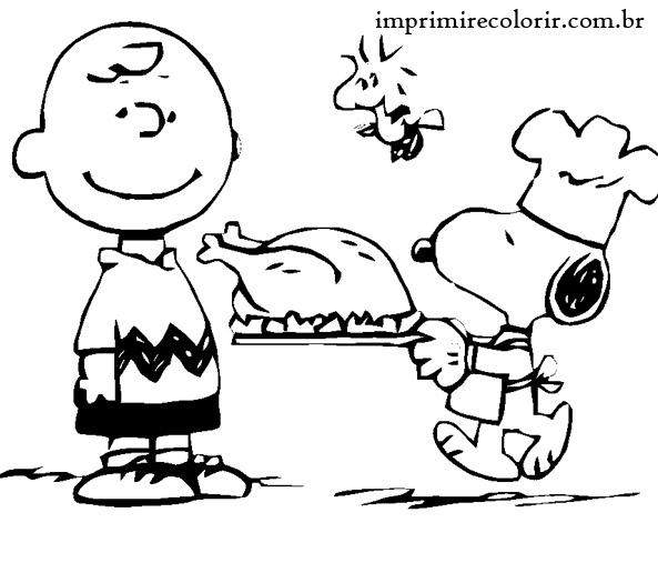 Snoopy E Charlie Brown Desenhos Para Imprimir E Colorir
