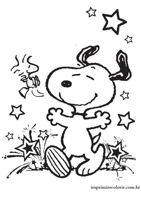 Snoopy Feliz Desenhos Para Imprimir E Colorir