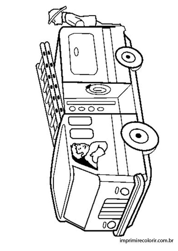 Caminhao Do Bombeiro Desenhos Para Imprimir E Colorir