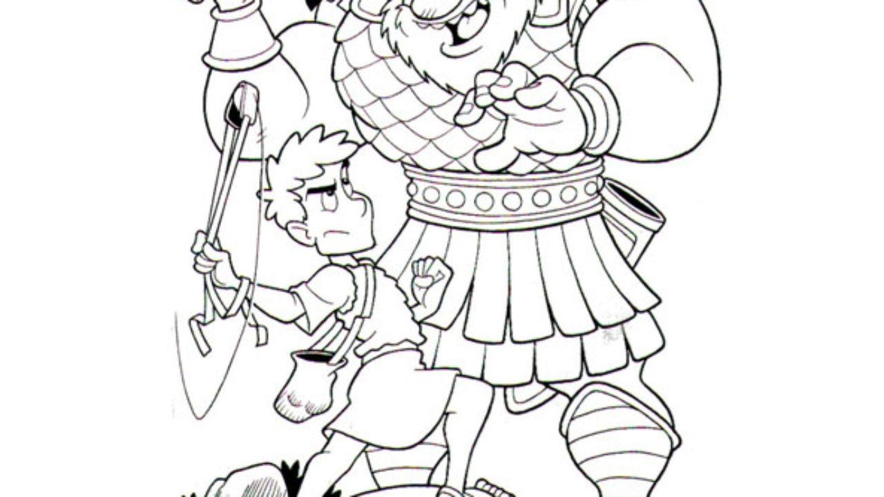 Davi E Golias Desenhos Para Imprimir E Colorir