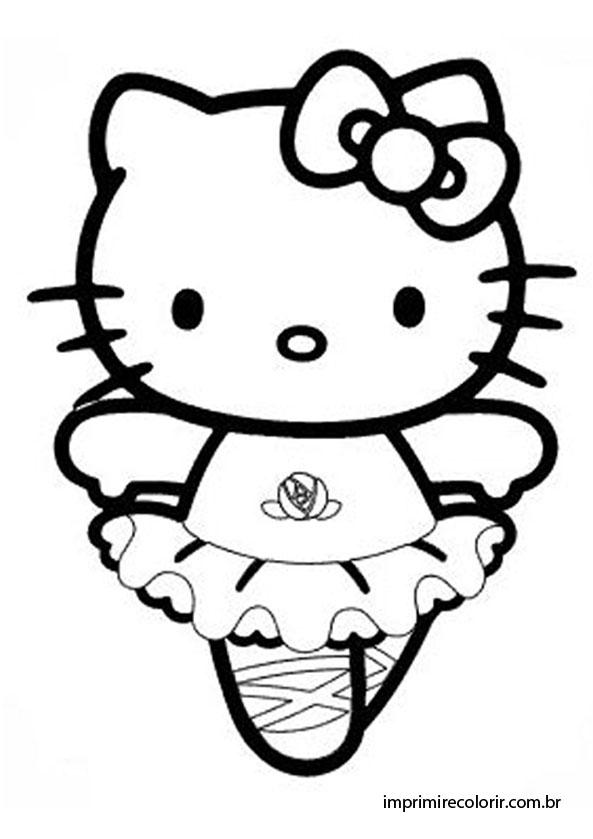 Hello Kitty Bailarina Desenhos Para Imprimir E Colorir